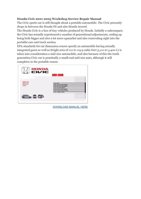 Honda Civic Repair Manuals